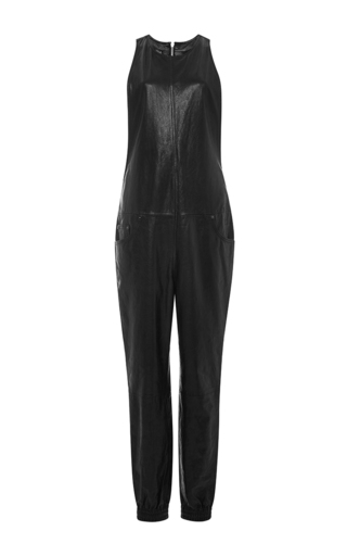 Five pocket leather jumpsuit  by R13 Now Available on Moda Operandi