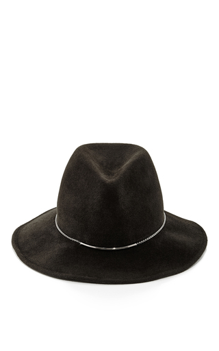 Bianca felted wool chain brim hat by EUGENIA KIM Now Available on Moda Operandi