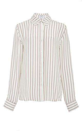 Le classic silk pleat shirt by FRAME DENIM Now Available on Moda Operandi
