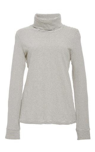le turtleneck stripe in supima cotton  by FRAME DENIM Now Available on Moda Operandi