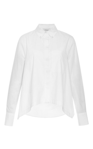 Cotton poplin layered long sleeved shirt by DEREK LAM 10 CROSBY Now Available on Moda Operandi