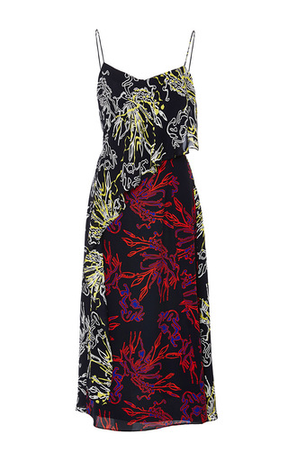 Silk printed strapless bella dress by TANYA TAYLOR Now Available on Moda Operandi