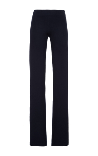 Navy cotton blend lex striped pants by JOSEPH Now Available on Moda Operandi