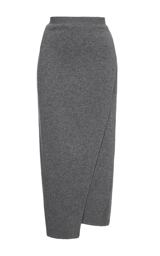 Grey wrap skirt by JOSEPH Now Available on Moda Operandi