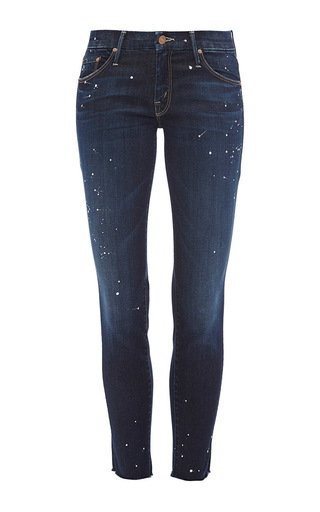 The looker frayed ankle jeans by MOTHER DENIM Now Available on Moda Operandi