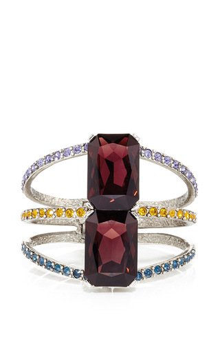 Multicolored pave octagonal stone bracelet by OSCAR DE LA RENTA Now Available on Moda Operandi