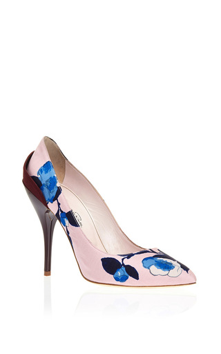 Nappa leather furnet printed pumps by OSCAR DE LA RENTA Now Available on Moda Operandi