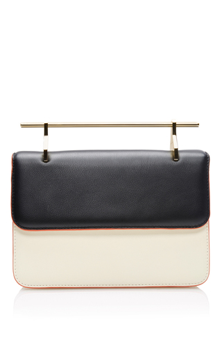 La Fleur Du Mal Calf Leather Bag In Ivory And Black by M2MALLETIER Now Available on Moda Operandi