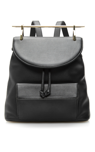 Calf Leather Backpack In Black by M2MALLETIER Now Available on Moda Operandi