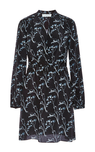 Silk Printed Gathered Waist Dress by THAKOON ADDITION Now Available on Moda Operandi