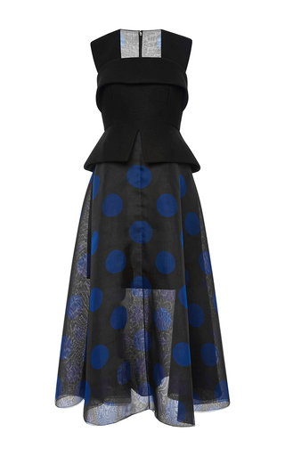 Silk, Wool And Mohair Polka Dot Organza Dress by DELPOZO Now Available on Moda Operandi