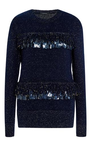 Metallic angora fringed pullover by THAKOON Now Available on Moda Operandi