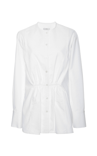 Pique gathered waist shirt  by TOME Now Available on Moda Operandi