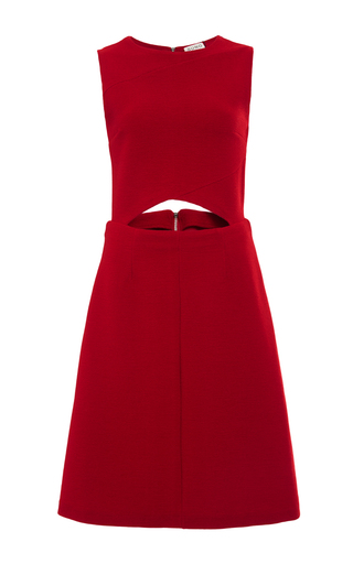 red cut-out a-line dress by SUNO Now Available on Moda Operandi
