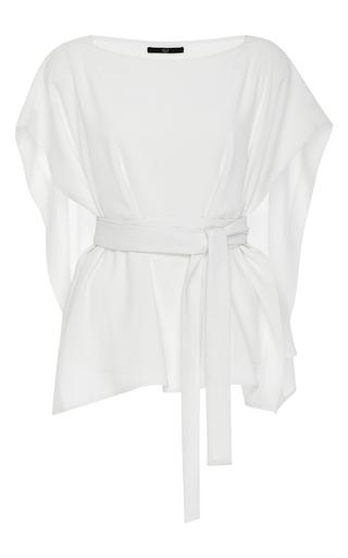 White savanna crepe front cape top by TIBI Now Available on Moda Operandi