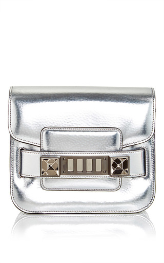 Silver patent leather ps11 tiny tote by PROENZA SCHOULER Now Available on Moda Operandi