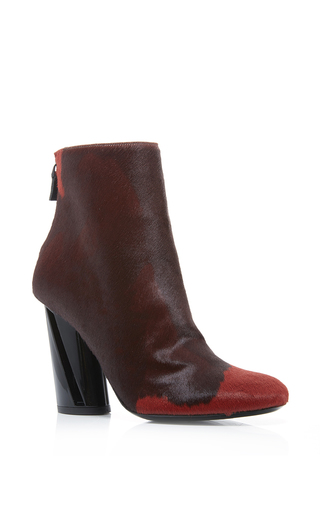 Red Pony Fur Ankle Boots by PROENZA SCHOULER Now Available on Moda Operandi