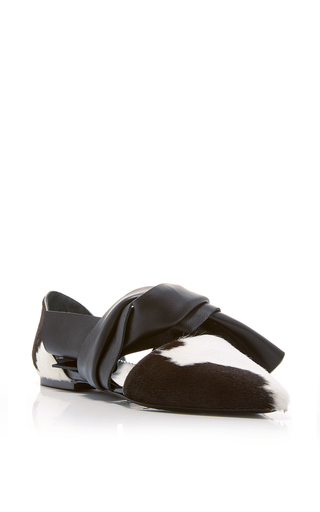 Calf Hair And Calf Skin Knotted Flats by PROENZA SCHOULER Now Available on Moda Operandi