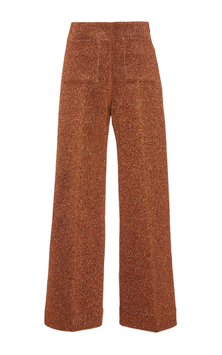 Copper lurex slim culottes  by ISA ARFEN Now Available on Moda Operandi