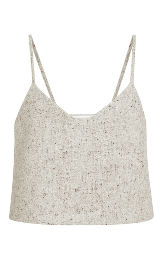 Grey wool half pint top  by ROSIE ASSOULIN Now Available on Moda Operandi