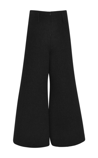 Charcoal wool wide leg pants by ROSIE ASSOULIN Now Available on Moda Operandi