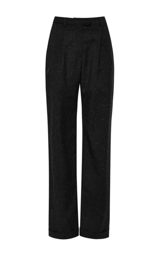 Wool mohair blend big girl pants  by ROSIE ASSOULIN Now Available on Moda Operandi