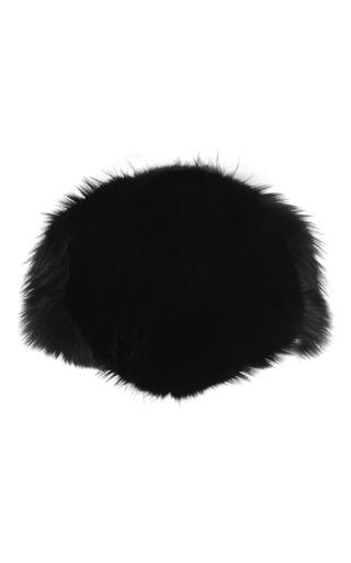 Black fox fur capelet by DOLCE & GABBANA Now Available on Moda Operandi