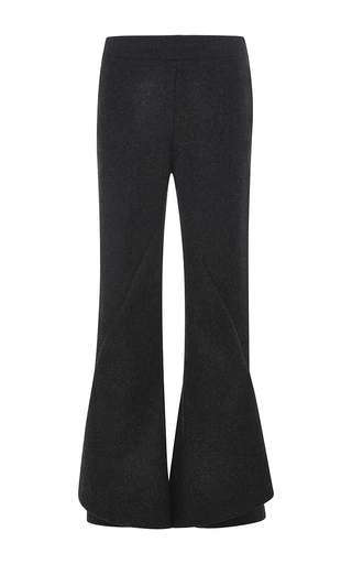 Grey felted wool clockwork trousers by MARY KATRANTZOU Now Available on Moda Operandi