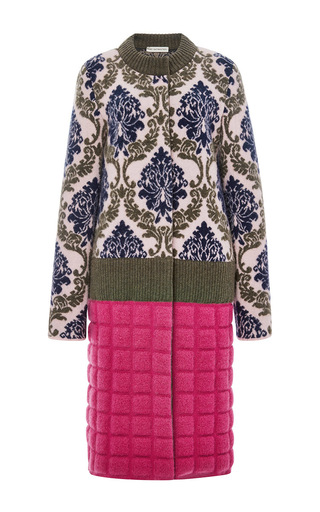 Wool cashmere and mohair pawelong coat  by MARY KATRANTZOU Now Available on Moda Operandi