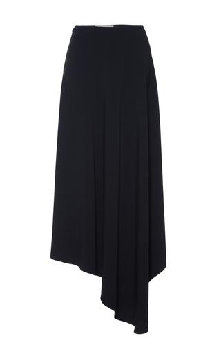 Long stretch cady skirt with asymmetrical hem by MARNI Now Available on Moda Operandi