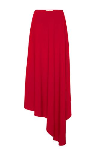 Red asymmetrical hem midi skirt  by MARNI Now Available on Moda Operandi