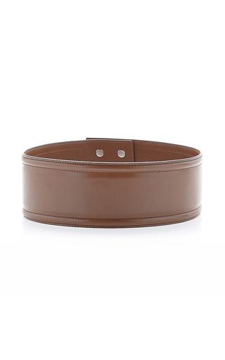 Wide tan buffalo leather belt by MARNI Now Available on Moda Operandi