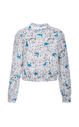 Multicolored long sleeve top by CARVEN Now Available on Moda Operandi