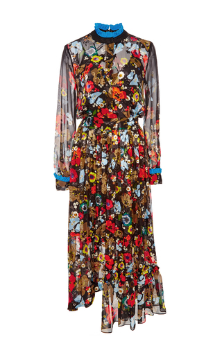 Long Sleeved Floral Print Dress by PREEN BY THORNTON BREGAZZI Now Available on Moda Operandi