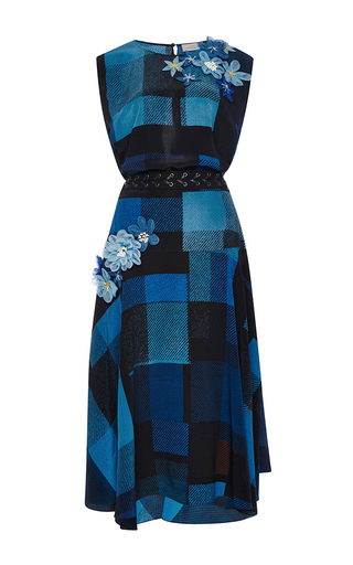 Imogen Crepe De Chine Check Dress With Belt by PREEN BY THORNTON BREGAZZI Now Available on Moda Operandi