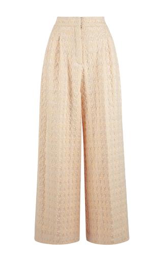 White silk wool tabitha trousers by EMILIA WICKSTEAD Now Available on Moda Operandi