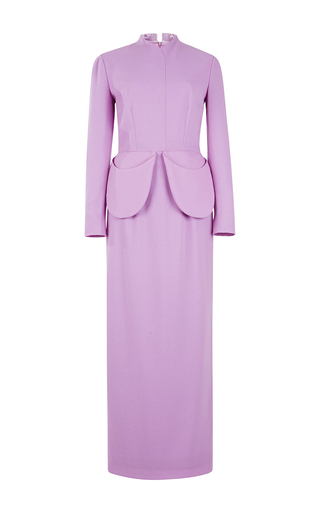 Purple esther long sleeved maxi dress  by EMILIA WICKSTEAD Now Available on Moda Operandi