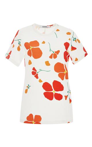 White poppy printed t shirt by RODARTE Now Available on Moda Operandi