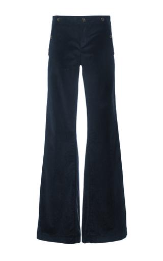 Navy Marine High Waisted Velvet Cord Pants by SEAFARER Now Available on Moda Operandi