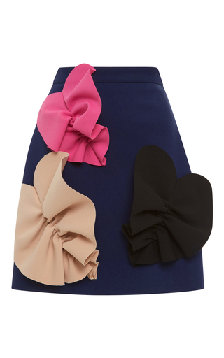 Double Crepe Mini Skirt With Hearts by MSGM Now Available on Moda Operandi