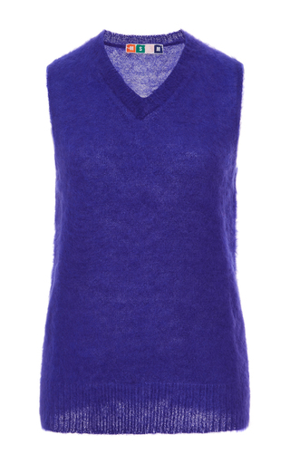 Mohair And Wool Sleeveless Vest by MSGM Now Available on Moda Operandi