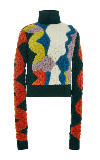 Multicolored slalom turtleneck by PETER PILOTTO Now Available on Moda Operandi
