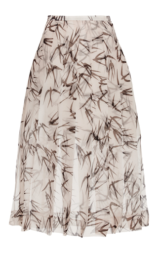 Silk Organza Swallow Printed Skirt by ROCHAS Now Available on Moda Operandi