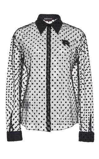 Sheer polka dot shirt  by ROCHAS Now Available on Moda Operandi