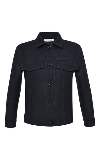 Cotton wool blend single breasted jacket by NINA RICCI Now Available on Moda Operandi