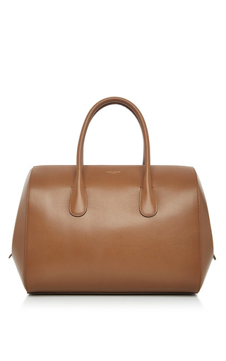 Tan calfskin leather youkali bag by NINA RICCI Now Available on Moda Operandi
