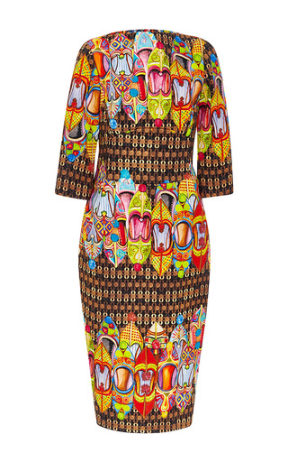 Norman Cotton Fitted Print Dress by STELLA JEAN Now Available on Moda Operandi