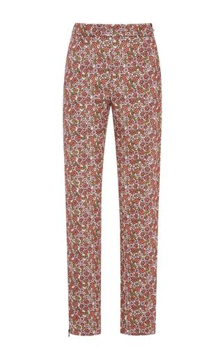 Floral printed cotton corduroy pants  by GIAMBA Now Available on Moda Operandi