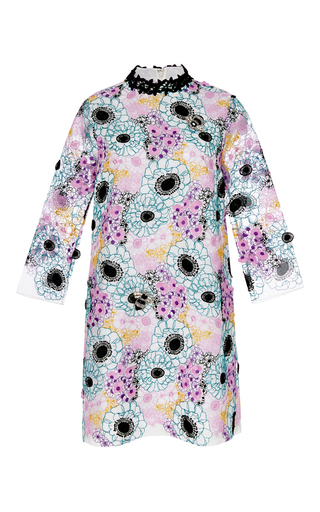 Floral embroidered mini dress by GIAMBA Now Available on Moda Operandi