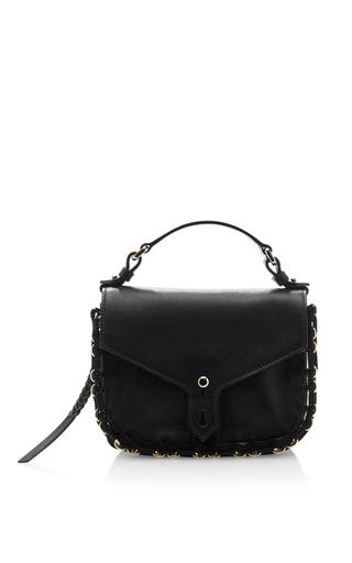 Black leather mini hudson saddle bag  by THAKOON Now Available on Moda Operandi